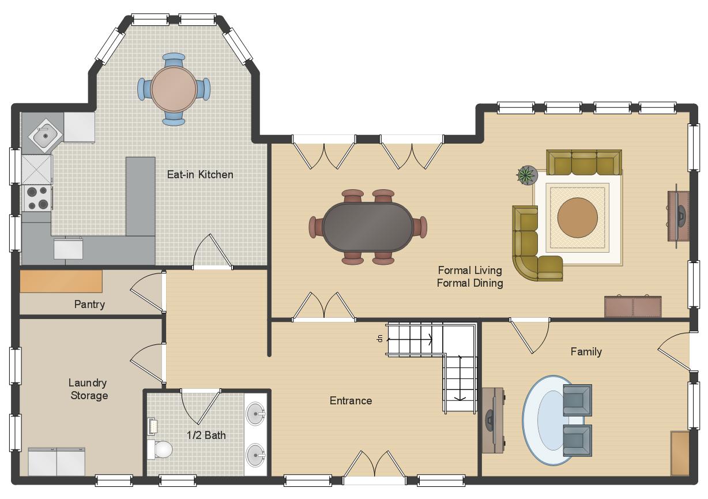 Single Family Detached Home Floor Plan Floorplan House Conce Floor Plans House Floor Plans Home Design Plans