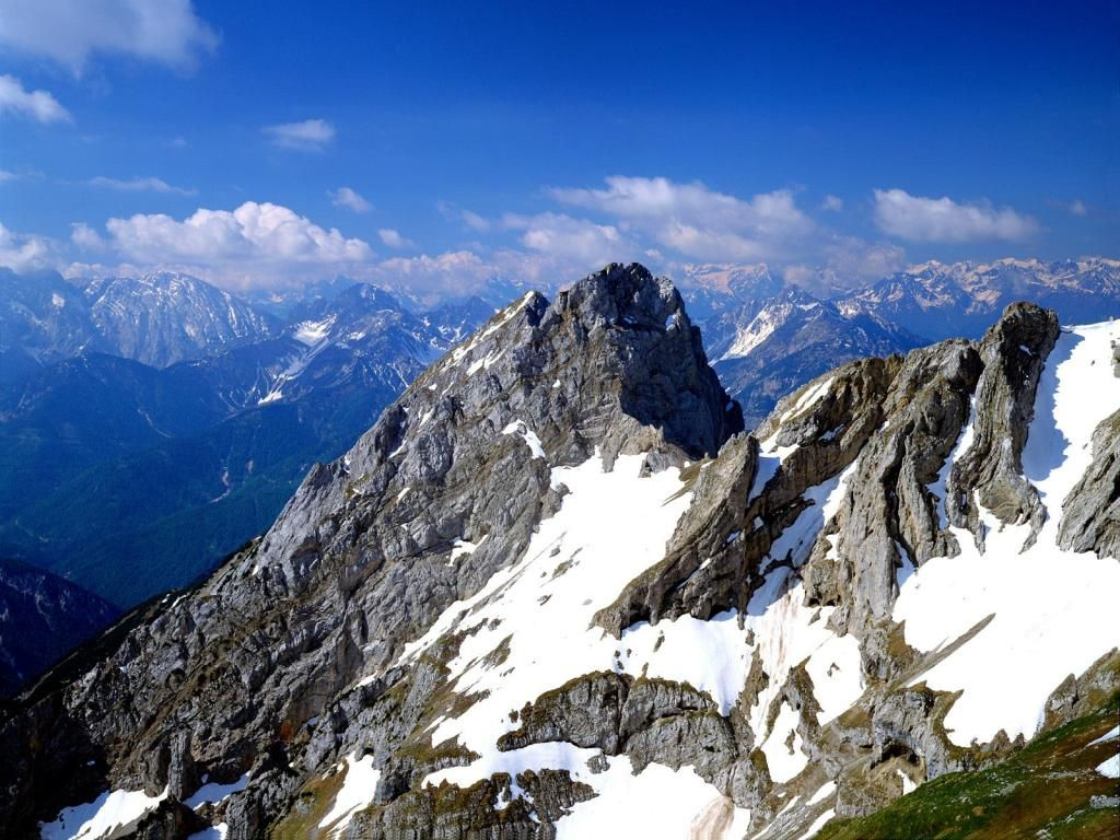 Gebirge Tag wallpapers: Hutterer Lake Dead Mountains Berge Totes ...