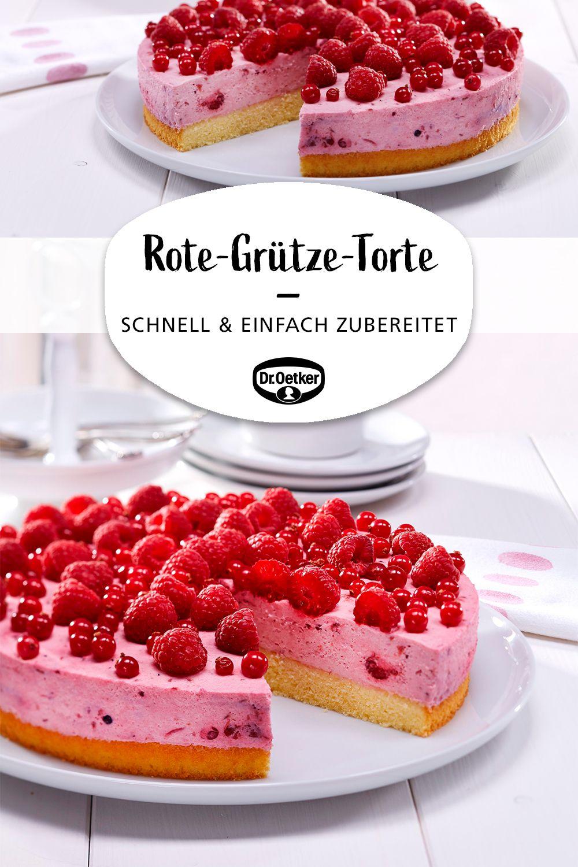 Schnelle Rote-Grütze-Torte #kuchenundtorten