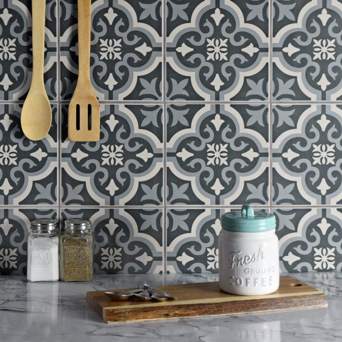 "Lima 7.75"" x 7.75"" Ceramic Field Tile Marble floor"