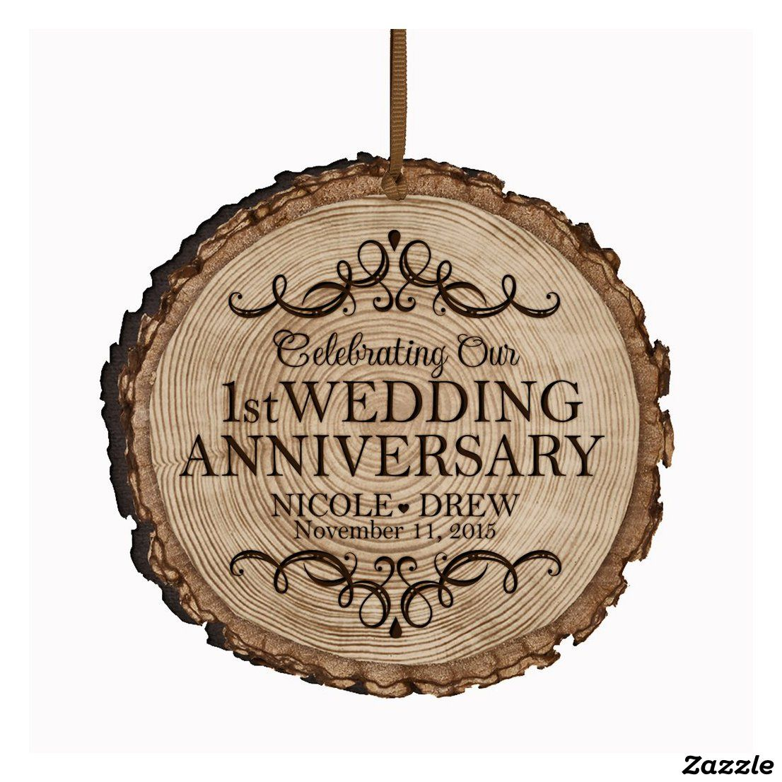 Gift for couple 20th Year Wedding Anniversary Gift Wood Picture Ornament Custom Ornament Wood Slice Photo Ornament Husband Wife Gift