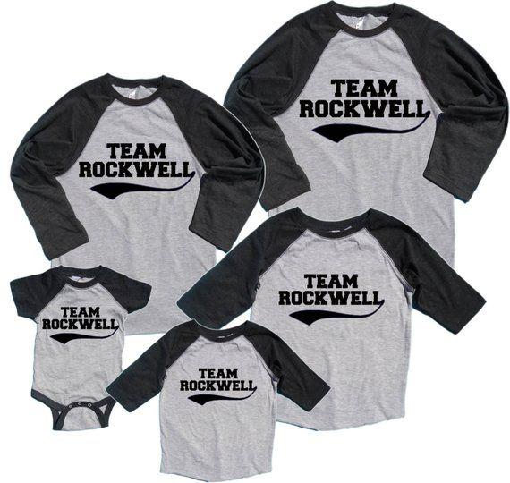 a2f35f9f02bdc Personalized Team Family Matching Baseball Shirts - FREE Shipping ...
