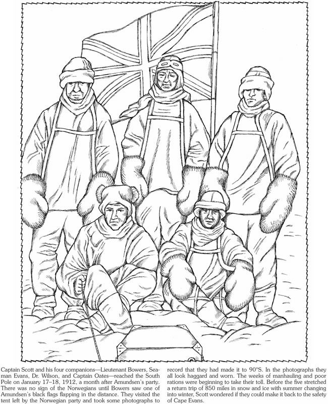 Race To The South Pole Coloring Book Dover Publications Coloring