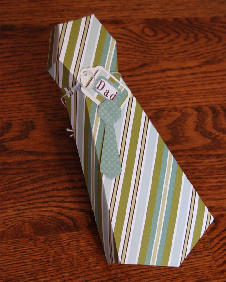 Tie Gift Box template