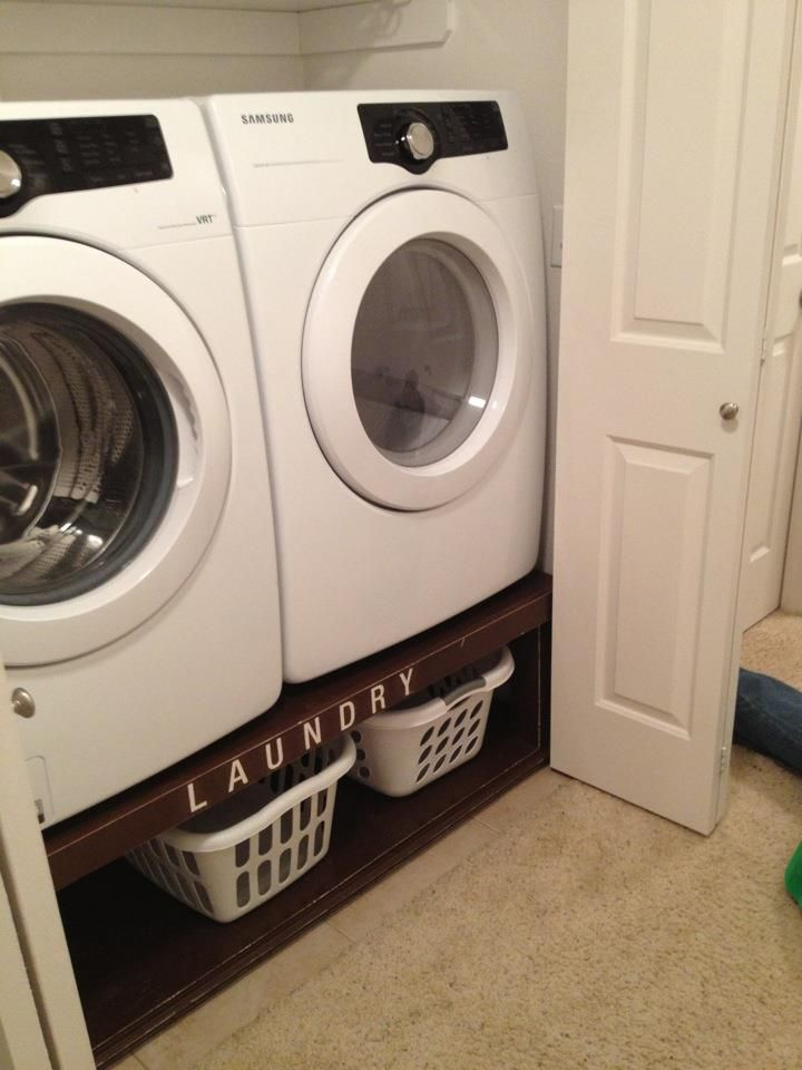 What A Cool Idea To Raise The Washer Dryer To Sensible Heigh And