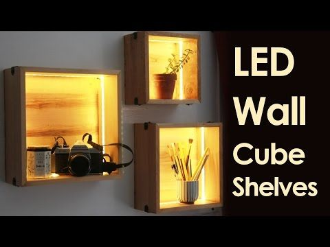 Led Wall Cube Shelves 12 Steps With Pictures Wall Cubes Cube Shelves Cube Wall Shelf