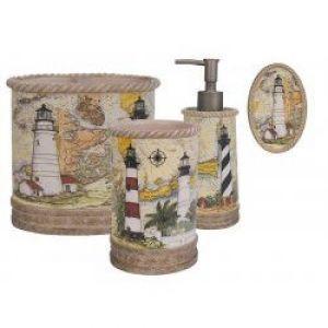 Beau Curtains, Lighthouse Shower Curtain, Lighthouse Bathroom Accessories