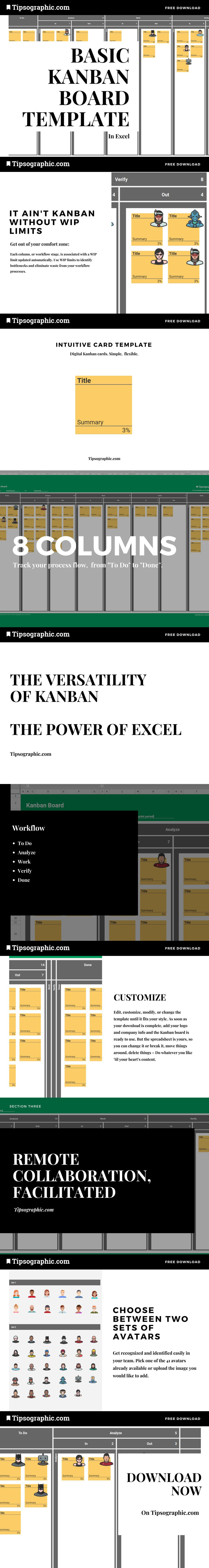 download here the best basic kanban board template for excel with wip limits tipsographic