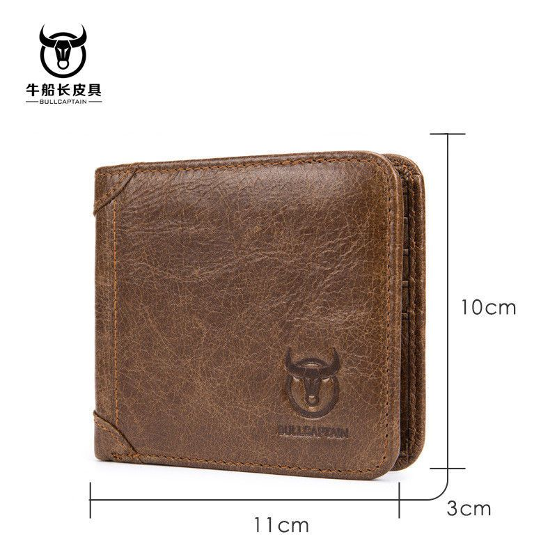 USA Men/'s Trifold Wallet Leather Business ID Credit Card Holder Coin Purse Gifts