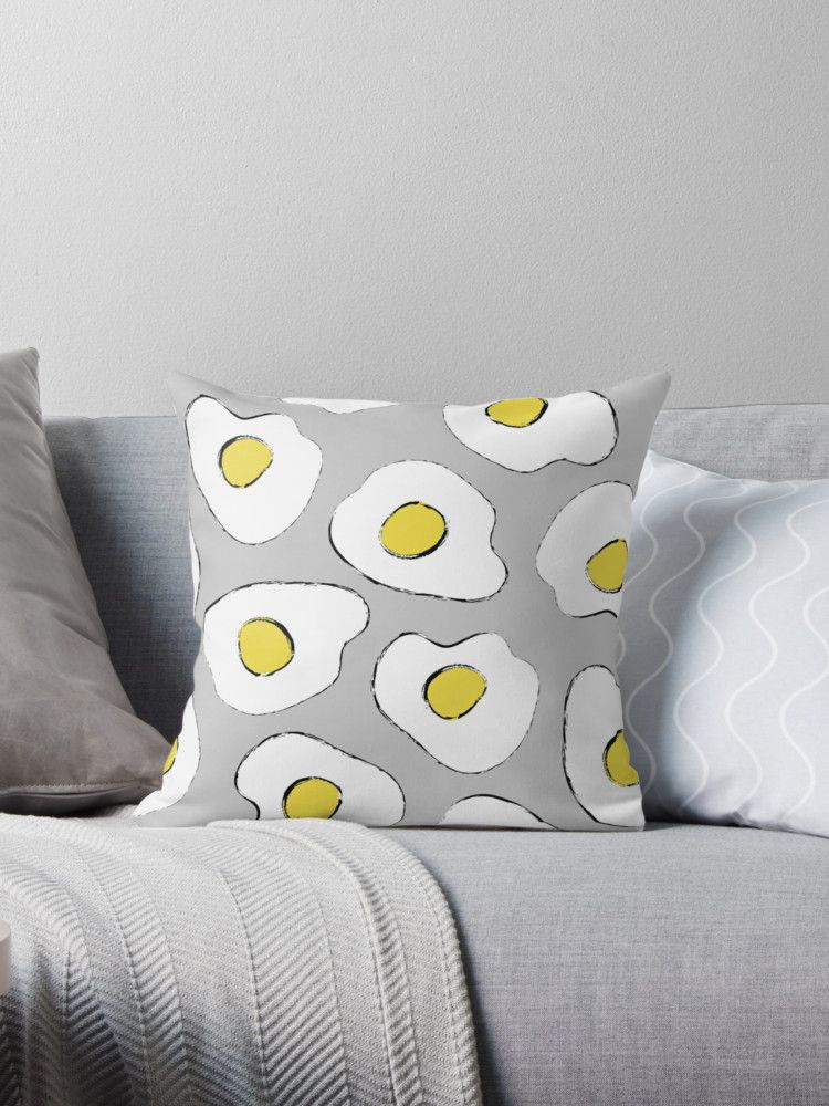 Breakfast eggs seamless pattern. Background with fried eggs • Also buy this  artwork on home decor 3ec8d1e871fa1