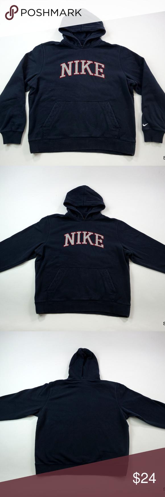 Nike Men S Hoodie Hooded Sweatshirt Embroidered Xl Hoodies Men Hooded Sweatshirts Hoodies [ 1740 x 580 Pixel ]