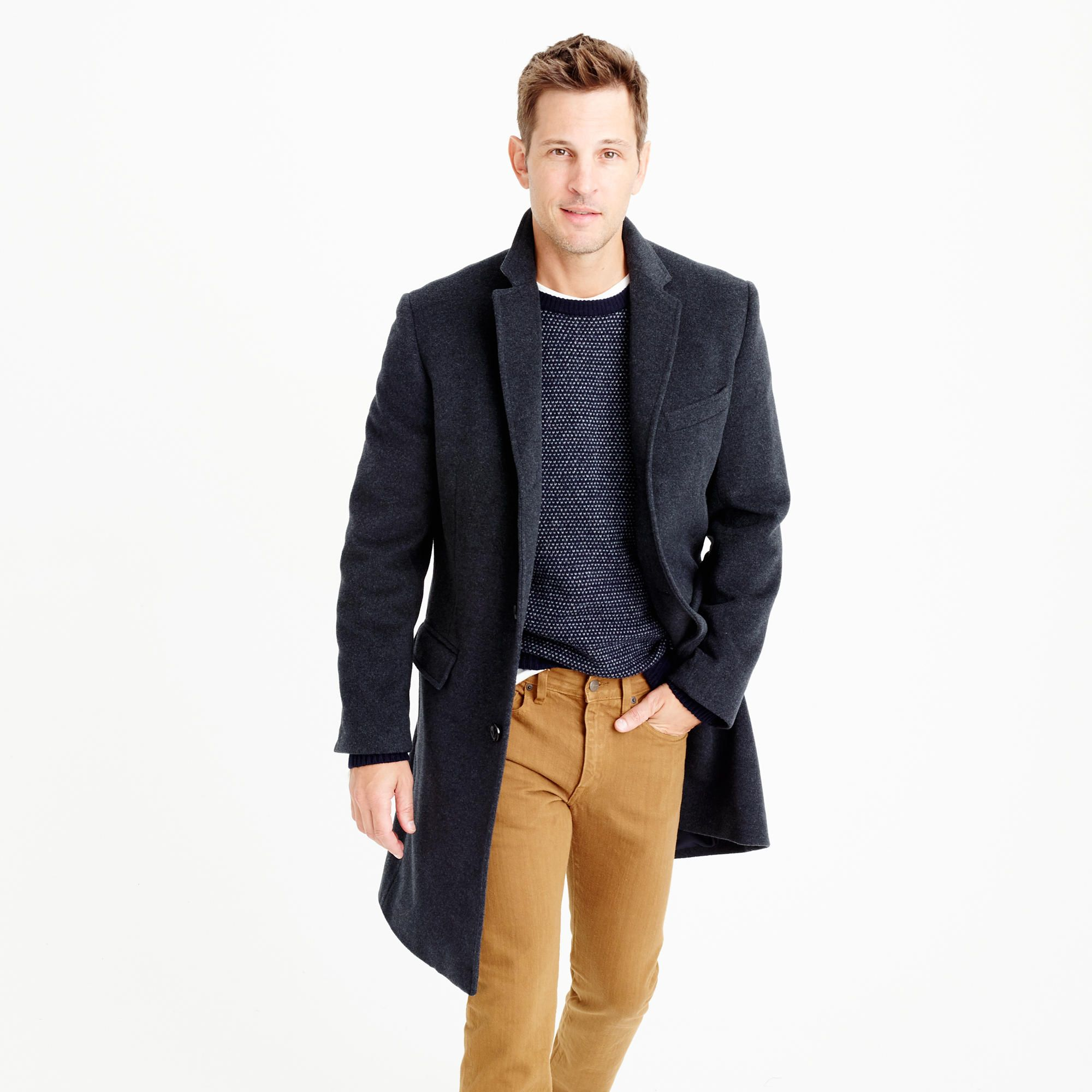 Ludlow topcoat in Italian wool-cashmere with Thinsulate® | Filip ...