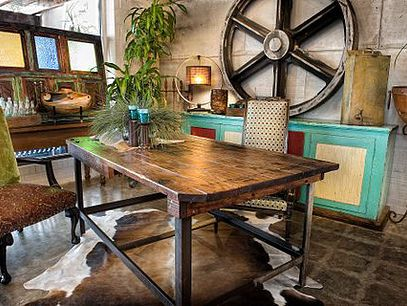 rustic furniture industrial furniture ranch western urban chic rh pinterest com