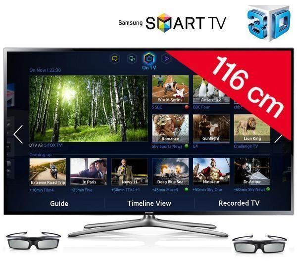 samsung ue46f6400 t l viseur led 3d smart tv tv led 3d pixmania ventes pas. Black Bedroom Furniture Sets. Home Design Ideas