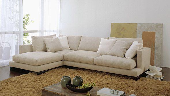 Divano angolare isola tino mariani disponibile con - Dimensioni divano con isola ...
