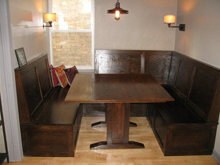 Irish pub style booth and table feather booths for Booth style kitchen table