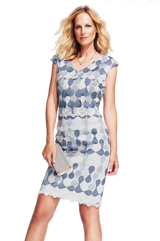 Elegantes Kleid in Blautönen Hermann Lange Select | Mode ...