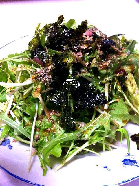 作ってみました!これホント美味しいですね~(^^)v - 44件のもぐもぐ - kotoringoさんの水菜の和風サラダ、作りました! by orient2go