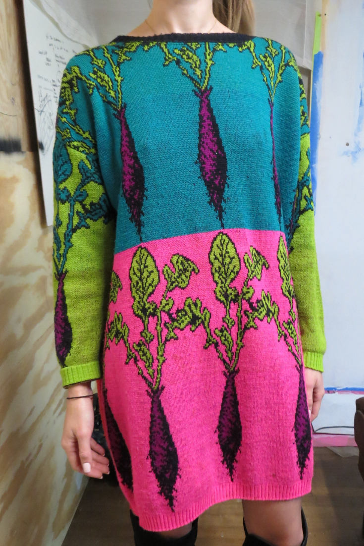 51f17bd58f Betsey Johnson sweater dress from her 80s Punk Label...  betseyjohnson   sweaterdress  80s  vintage