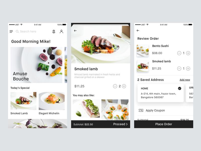 Food Delivery app concept   UI   Iphone app design, Mobile