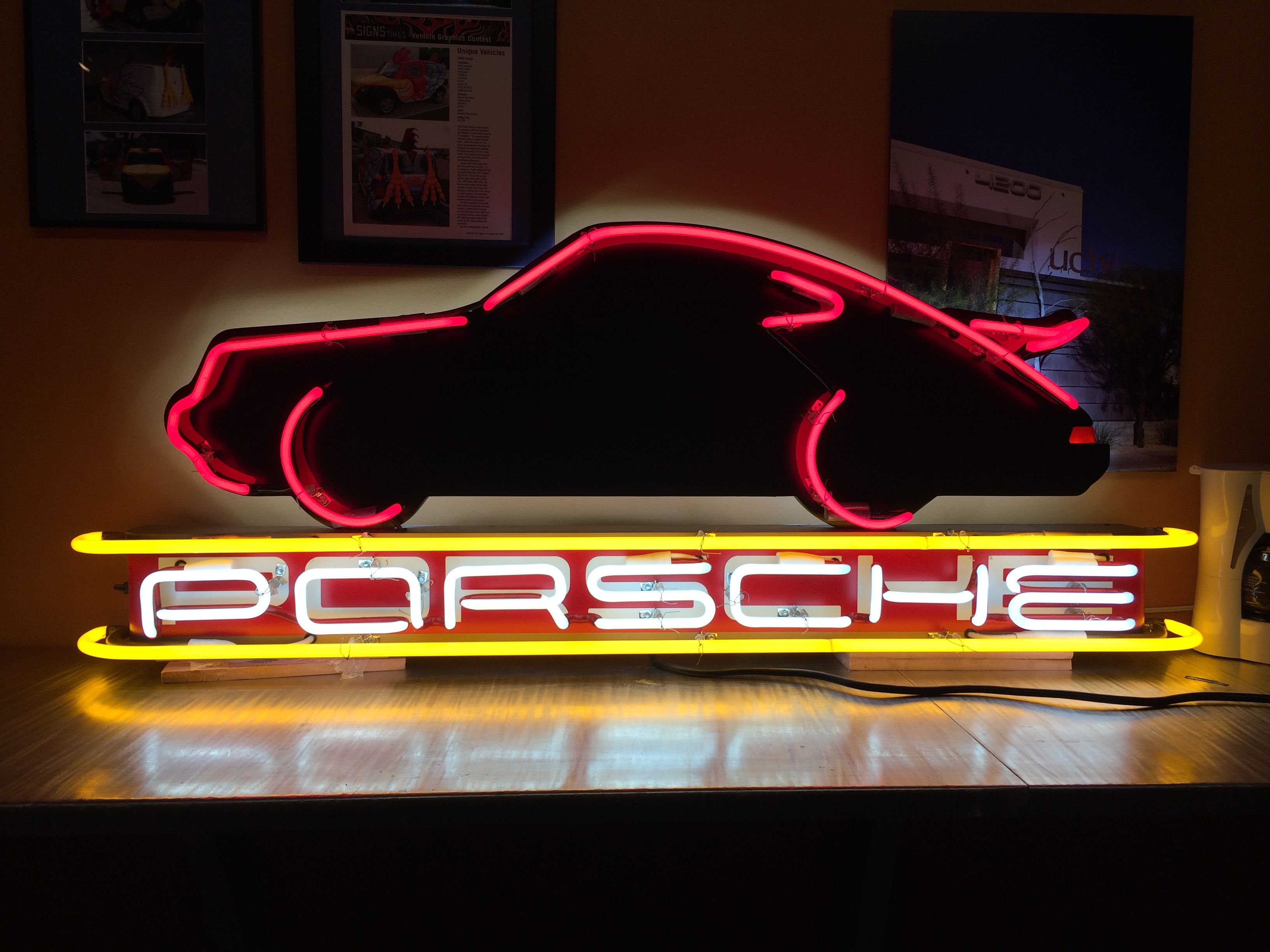Garage Art Neon Signs Custom Porsche Neon Sign Designed By Chase Meyers