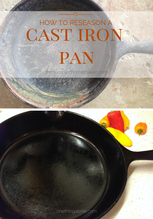 How to Re-Season a Cast Iron Pan | The Humbled Homemaker