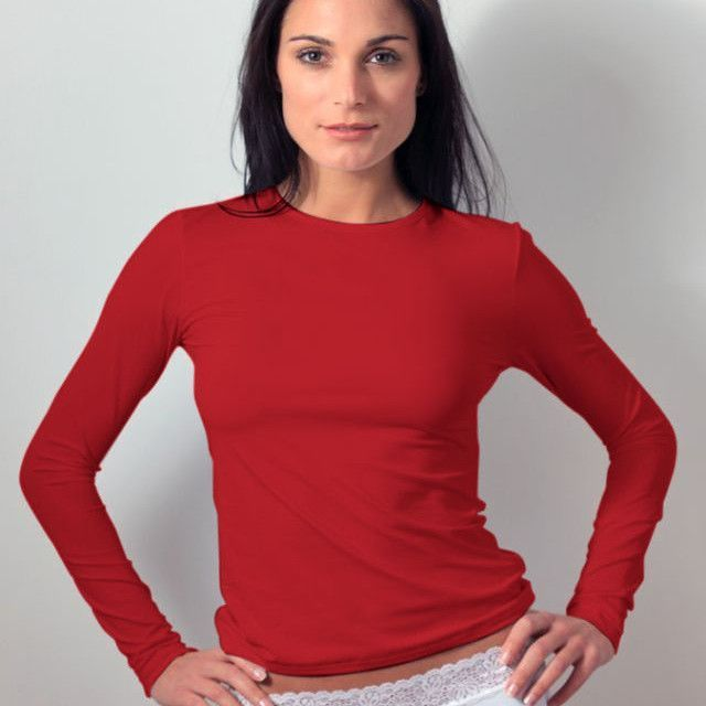 Long Sleeve Crew Neck Layering Top