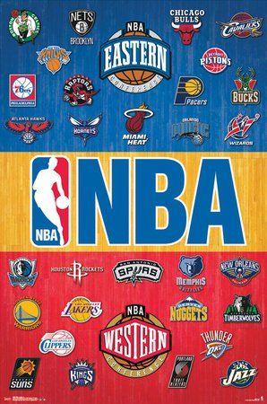 Amazon Com Nba All In One Team Logos Poster Print 22 5 X 34 Posters Prints Nba Logo Nba Basketball Sports Basketball