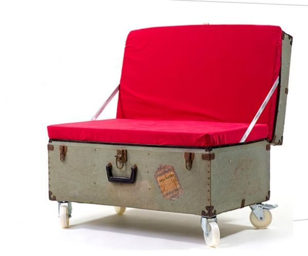 Beautiful Retro Modern Chairs Made With Old Suitcases Modern - Beautiful retro modern chairs made old suitcases