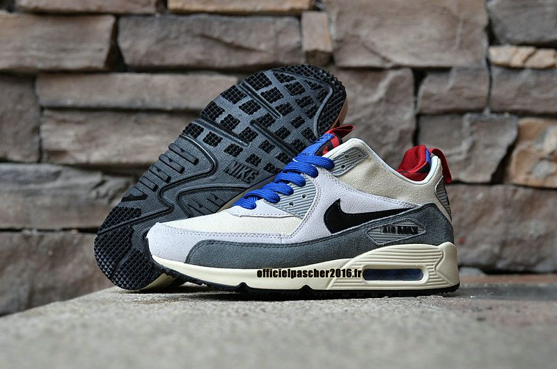 online store b61d1 f0445 Officiel Nike Air Max 90 Sneakerboot Chaussures Nike Pas Cher 2016 Pour  Homme Gray - Blanc - Noir