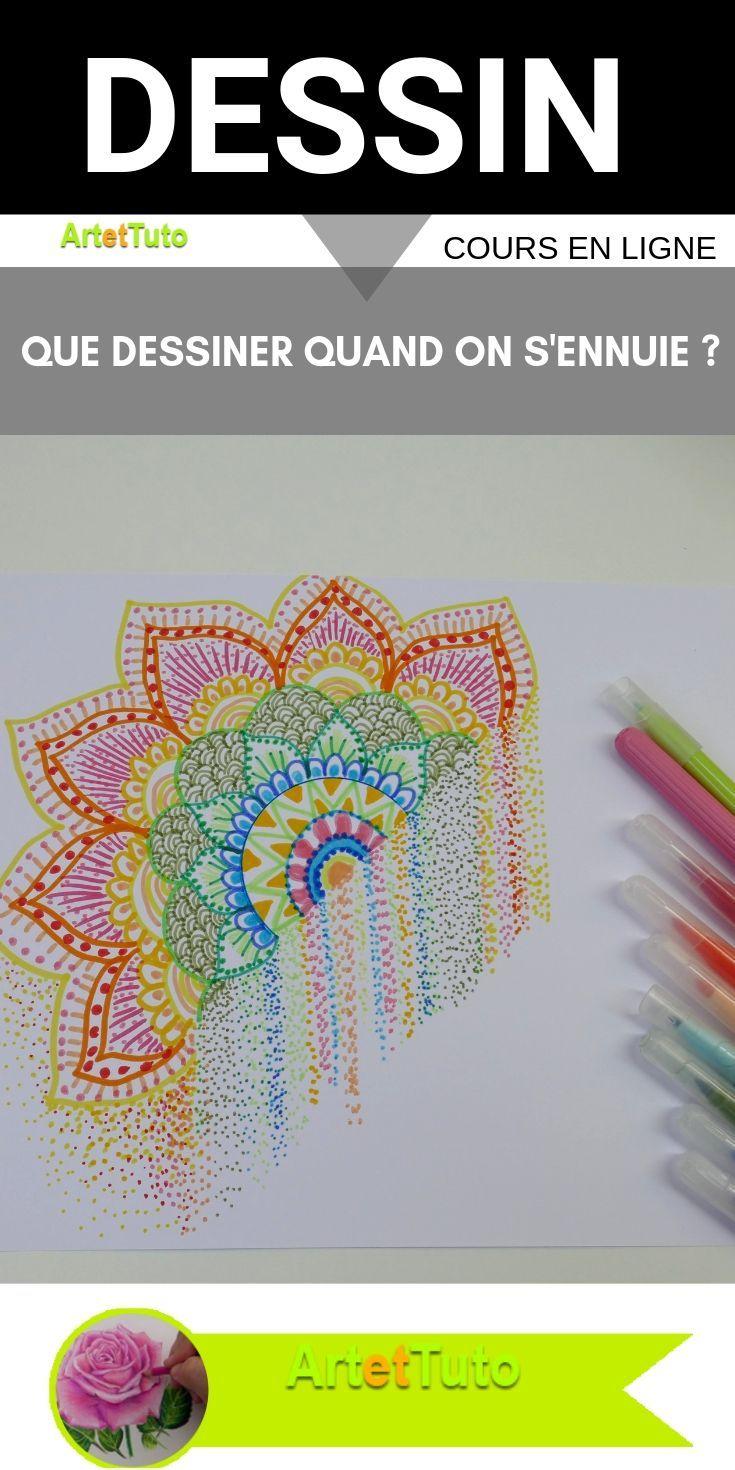 Que dessiner quand on s'ennuie -Idée de dessin facile! + Vidéo tutoriel de dessin. #…   Idée de ...