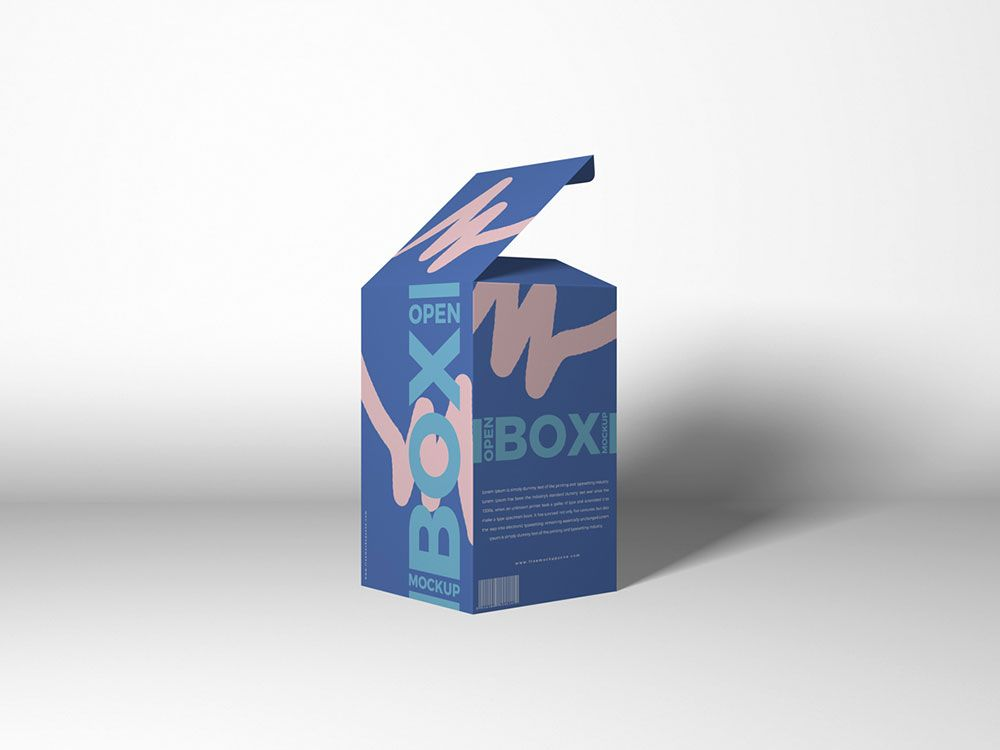 Download Free Packaging Open Box Mockup Mockuptree Box Mockup Photoshop Mockup Free Mockup Psd
