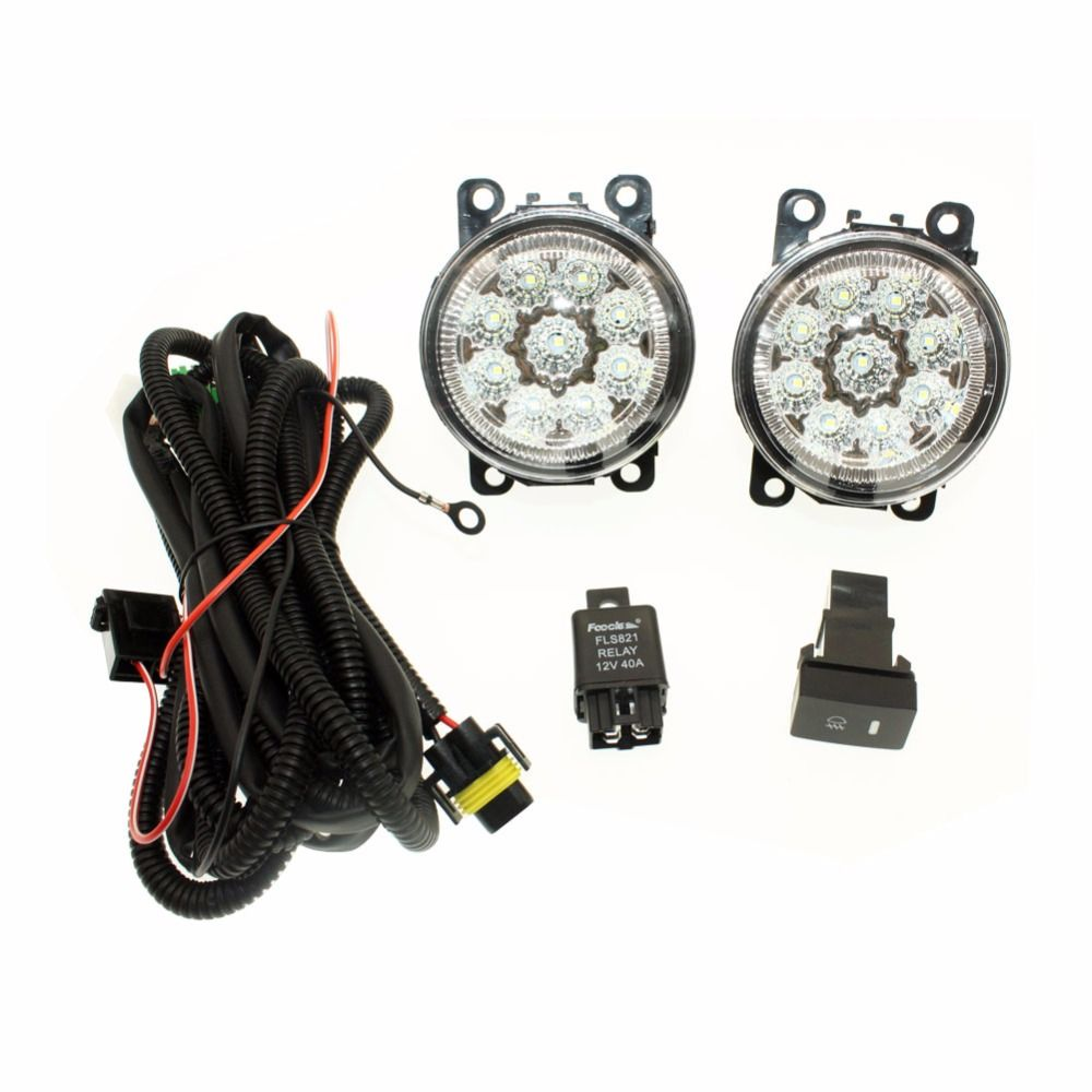 For Ford C Max Fusion 2013 2014 H11 Wiring Harness Sockets Wire Led Drl Switch Connector 2 Fog Lights Front Bumper Lamp Yesterdays Price Us 4199