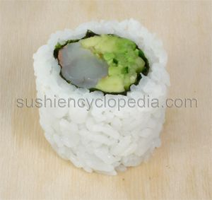 Boston Roll - Variation of California Roll with Shrimp instead of crab.  Tryin it!