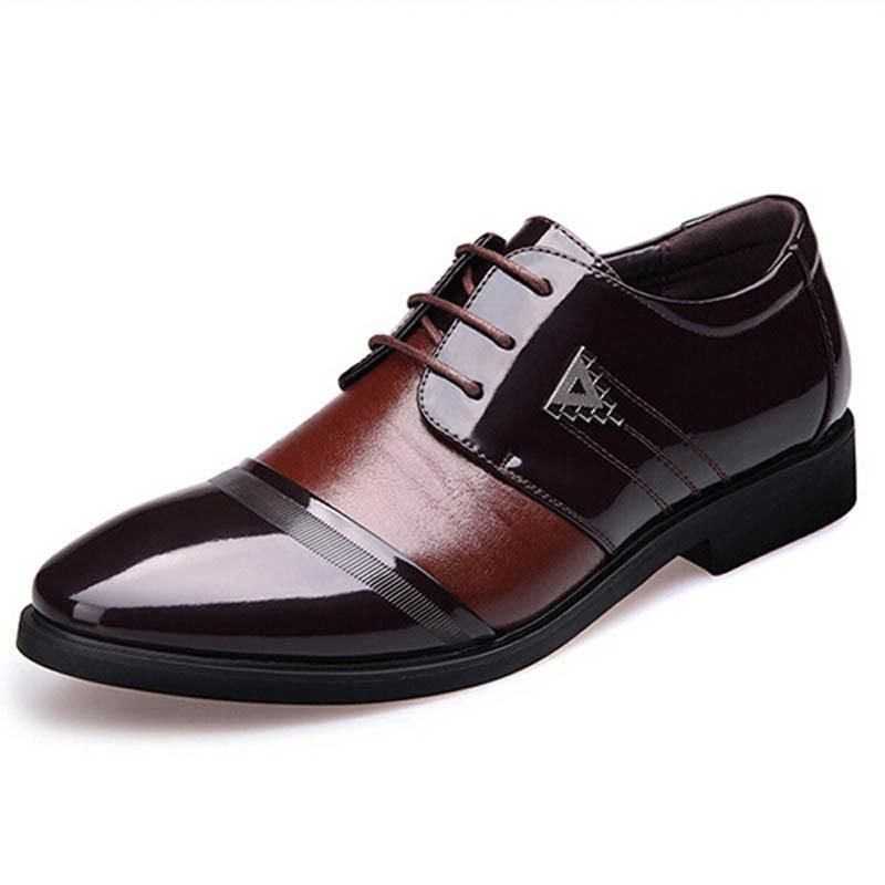 Casual Homme Plat Chaussures Respirante PU Brun Wdv0UxV