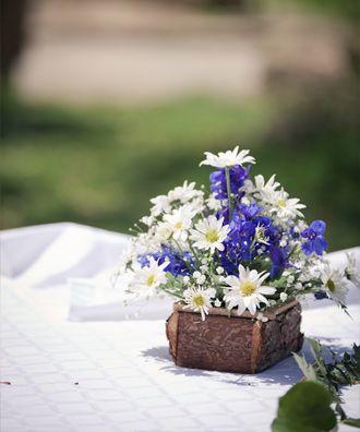 Arreglo Floral Con Margaritas Mariage Deco Arreglos