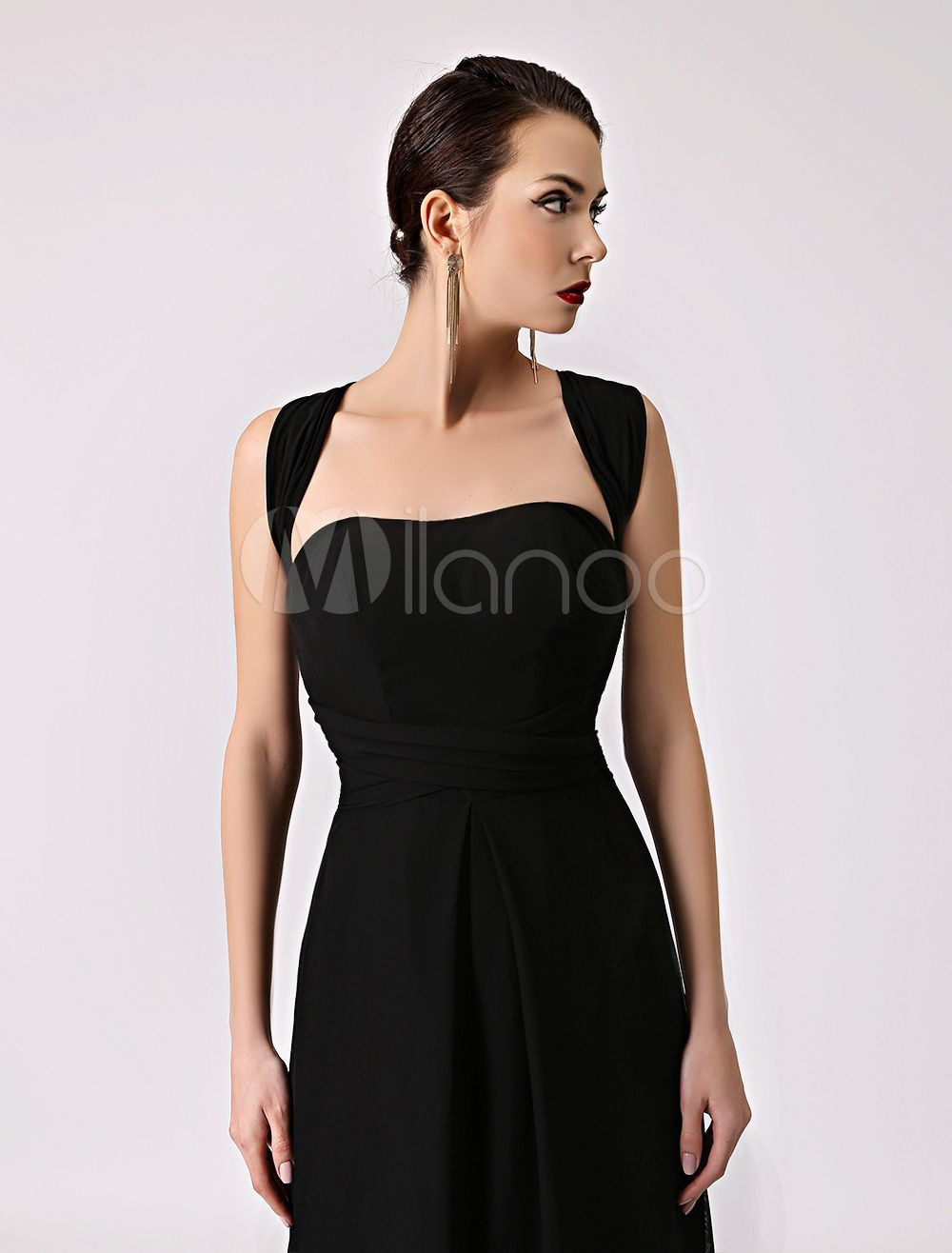 Black Bridesmaid Jumpsuit Straps convertible Backless Chiffon Wide Leg Pants Milanoo #bridesmaidjumpsuits Black Bridesmaid Jumpsuit Straps convertible Backless Chiffon Wide Leg Pants Milanoo #bridesmaidjumpsuits
