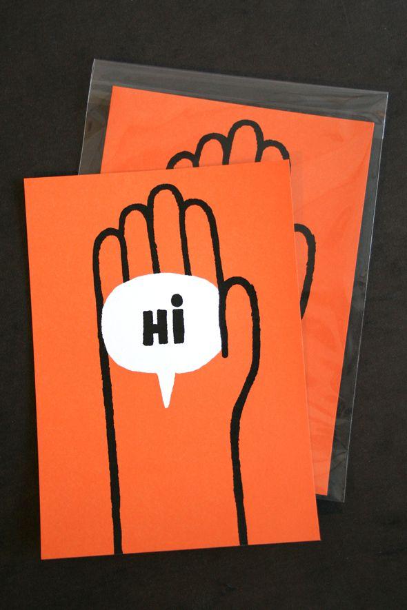 Say Hi! screen print £4