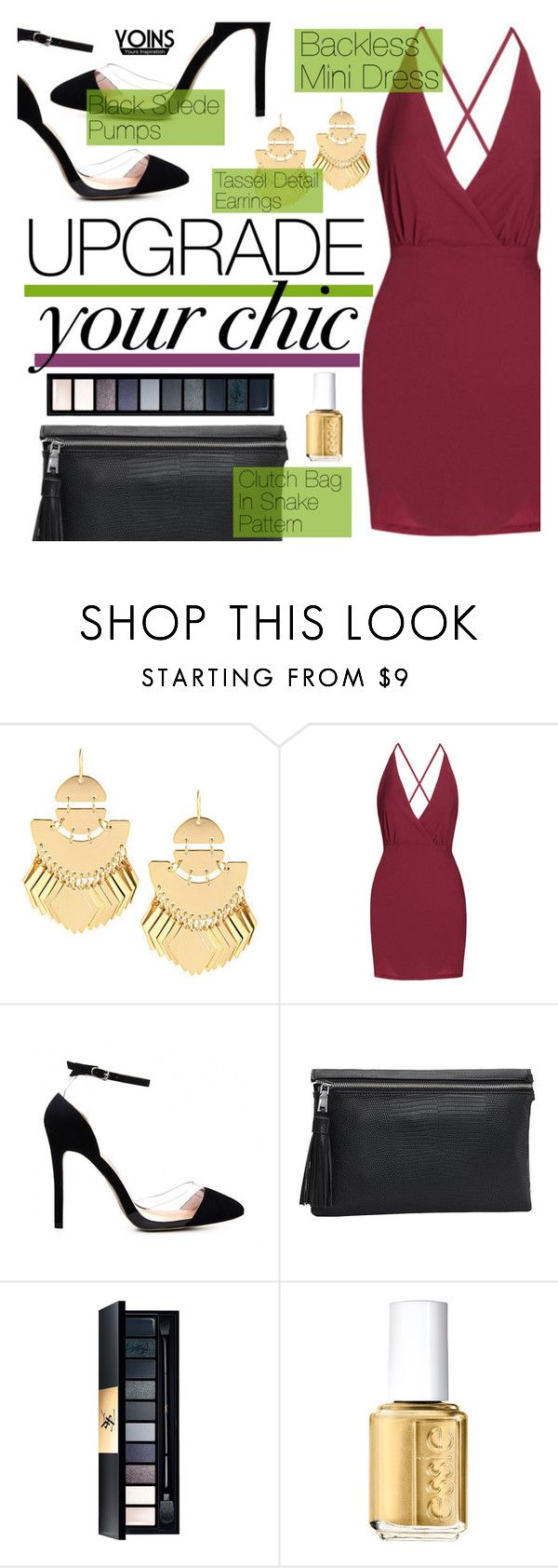 """""""Yoins #5"""" by tasnime-ben ❤ liked on Polyvore featuring Essie, yoins and yoinscollection"""