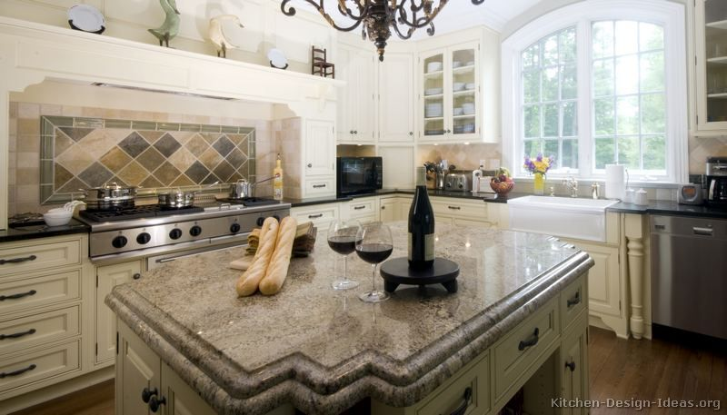 Kitchen Design Ideas Org Amazing Traditional Antique White Kitchen Cabinets #03 Kitchendesign Design Ideas