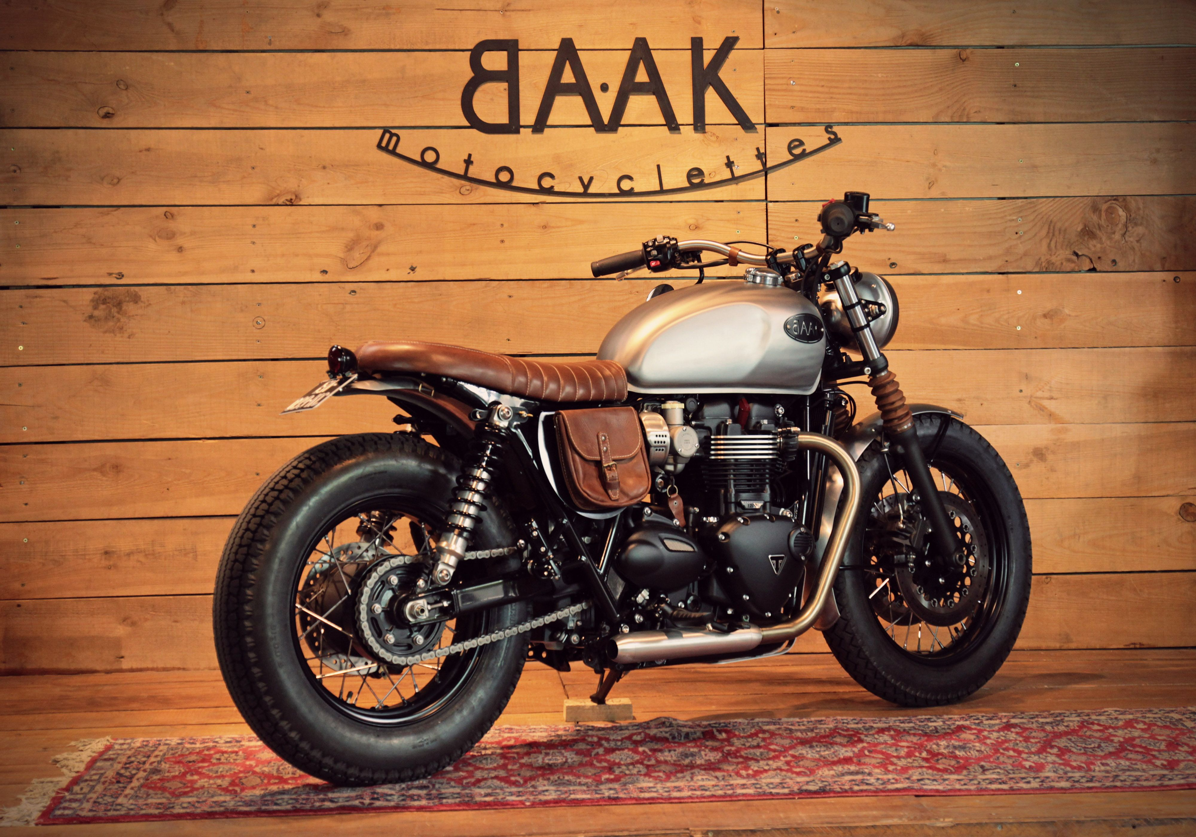 Triumph Bonneville T120 Leather Kit By Baak Motocyclettes Vrooom