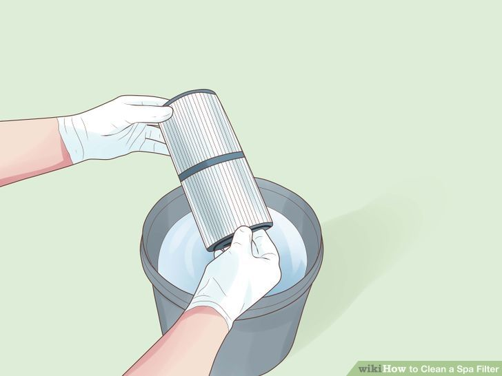 Clean a spa filter cleaning filters