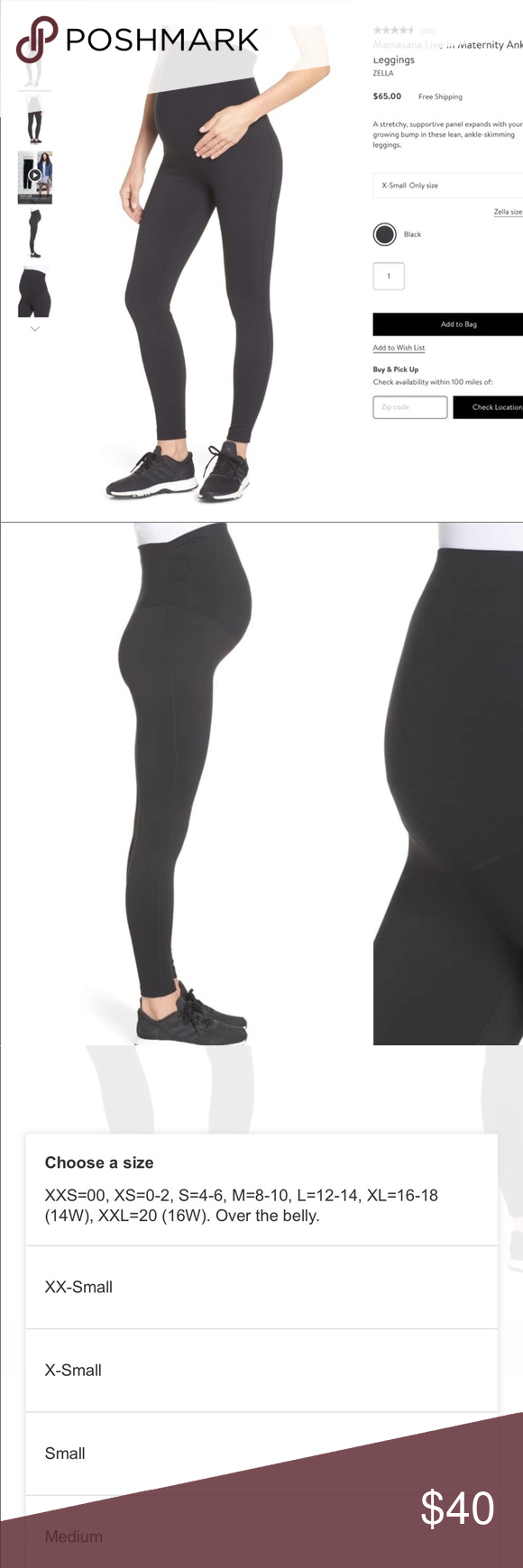 3677852ec8b4b7 Zella Mamasana Live In Maternity Ankle Leggings M These have been sold out  at Nordstrom off and on all winter. Purchased the Medium as that's what I  wear in ...