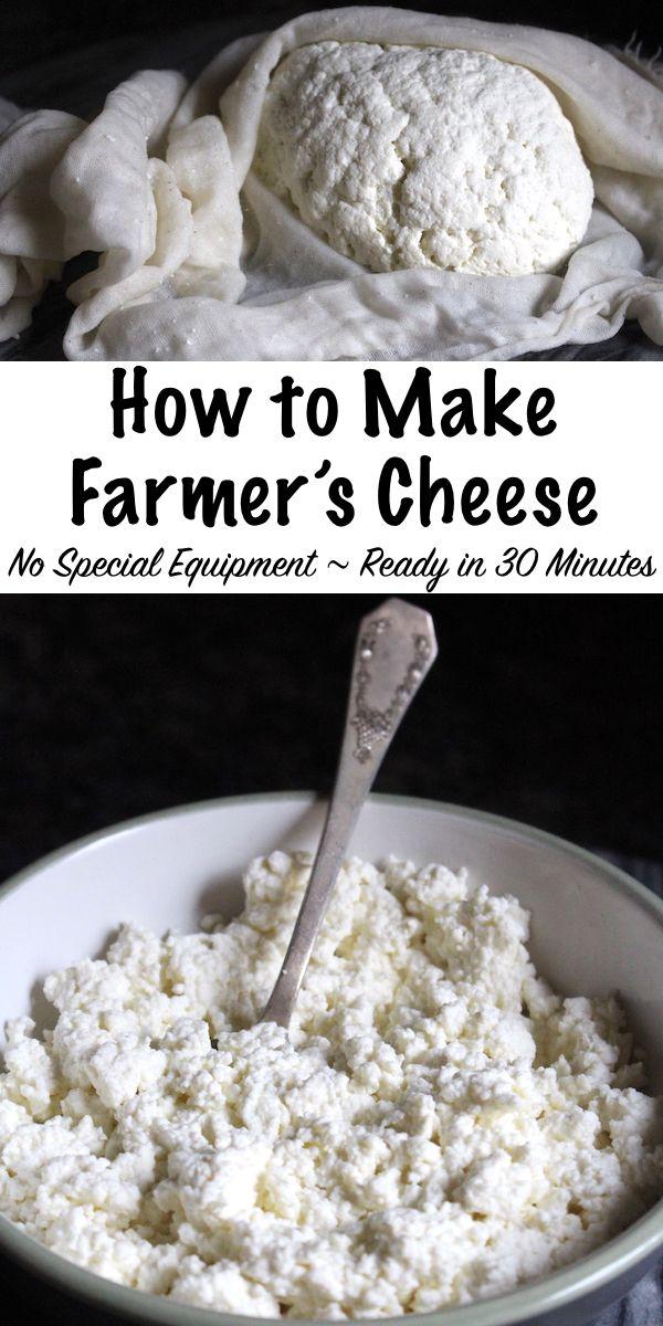 Farmer S Cheese Recipe Farmers Cheese Goat Milk Recipes Homemade Cheese