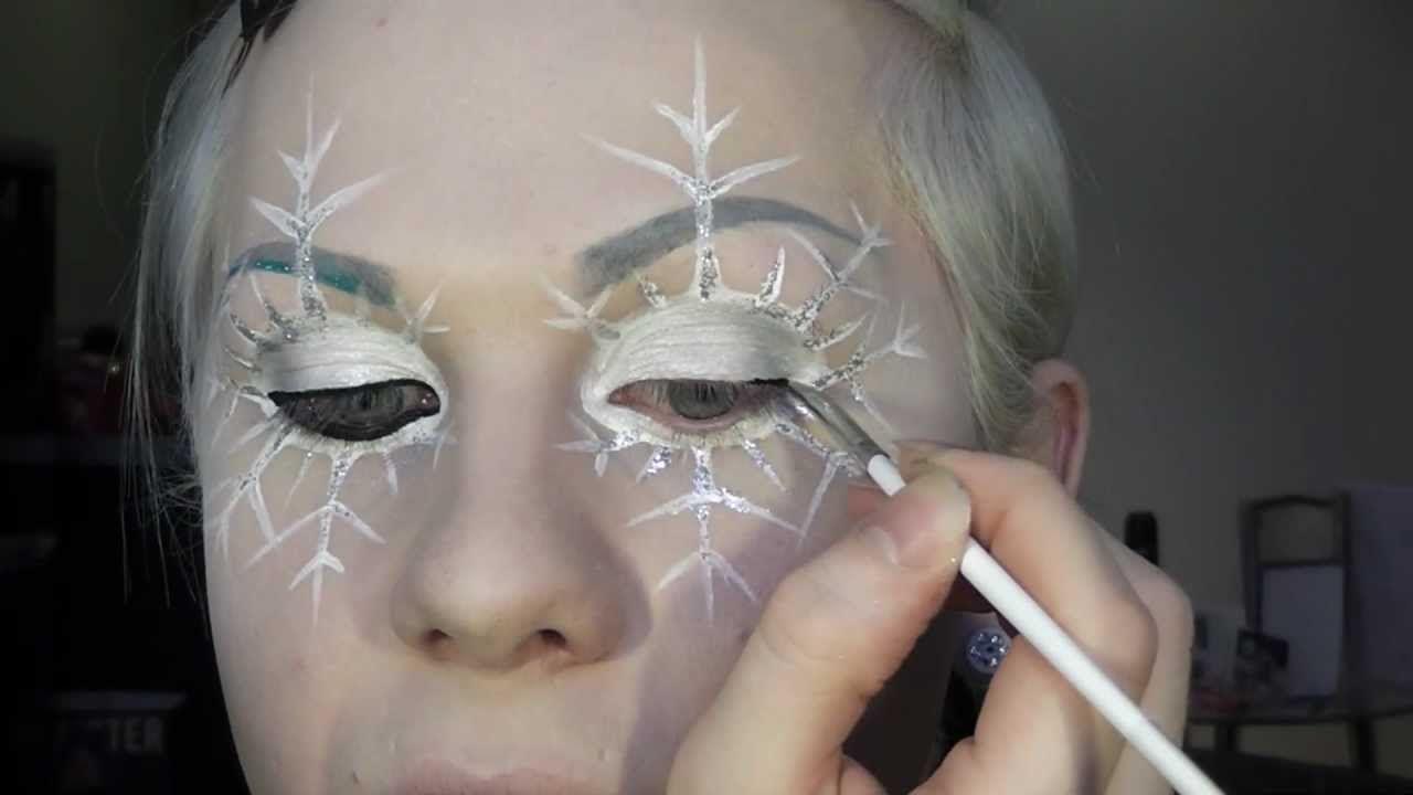 Snowflake Fairy Or Ice Queen Makeup Tutorial Youtube Ice Queen Makeup Ice Queen Costume Snow Queen Makeup