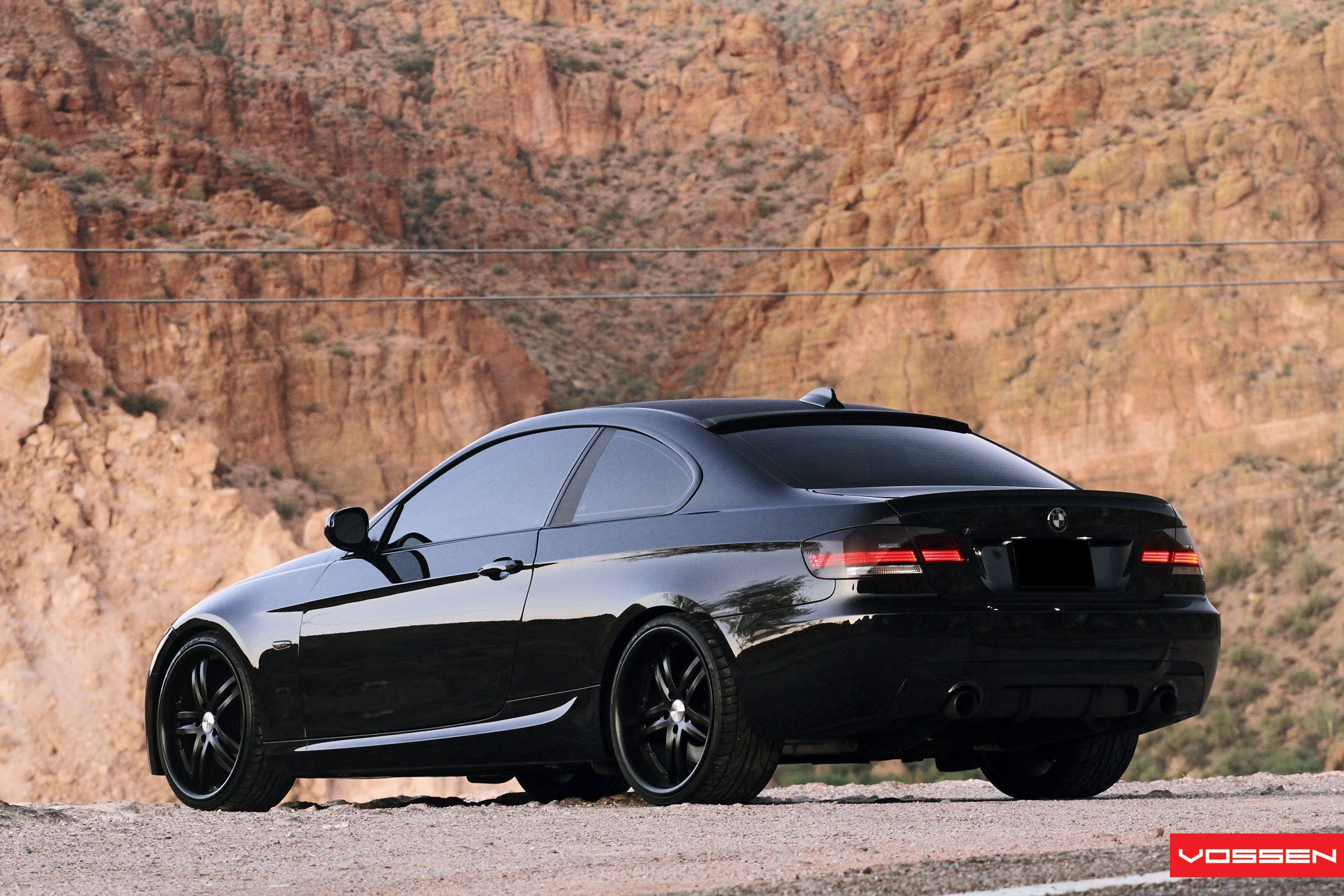 Black Is The New Black Bmw 3 Series On Custom Satin Black Vossen