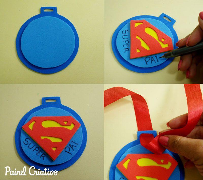 Como Lembrancinha Dia Dos Pais Medalha Em Eva Escola 2