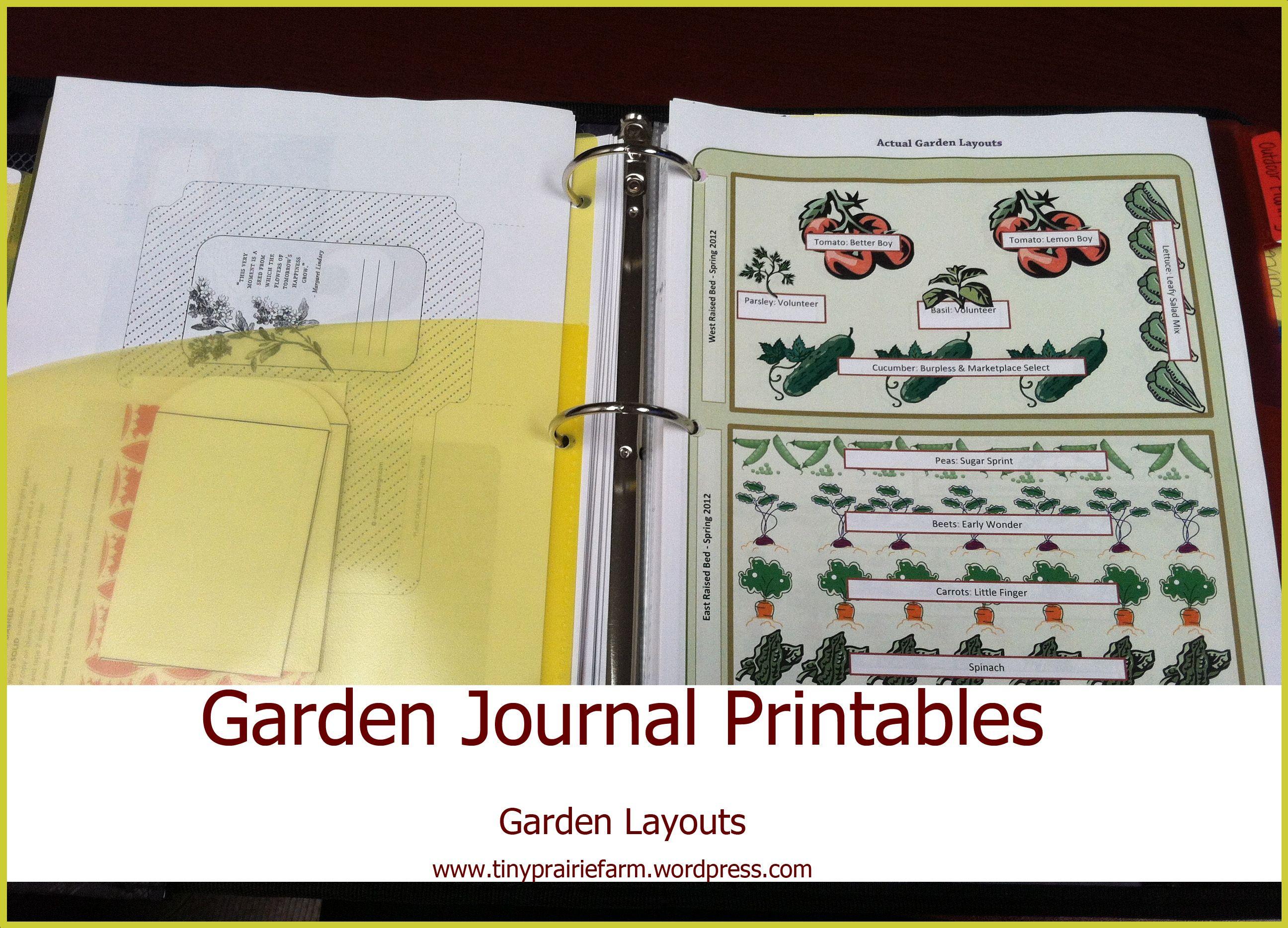 Garden Planning My Garden Journal
