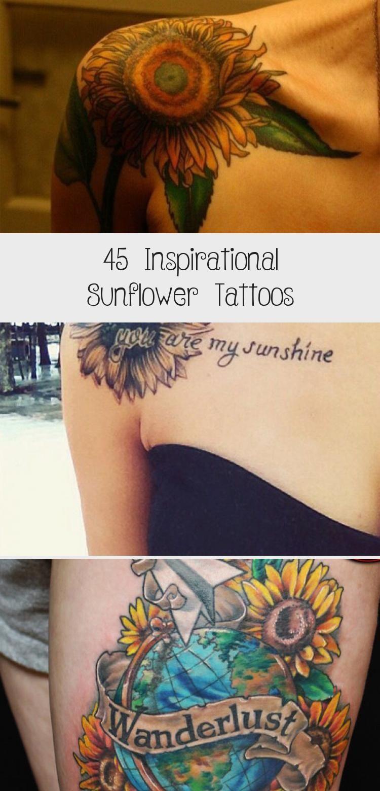 Photo of sunflower tattoo – 45 Inspirational Sunflower Tattoos #VanGoghsunflowertattoos #…