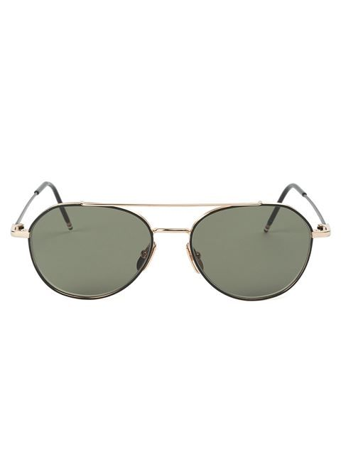 THOM BROWNE aviator frame sunglasses. #thombrowne #sunglasses